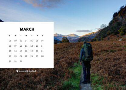 Start Hiking bureaukalender maart