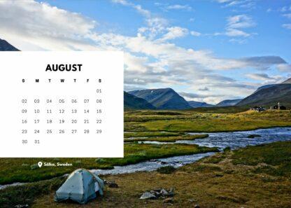 Start Hiking bureaukalender augustus