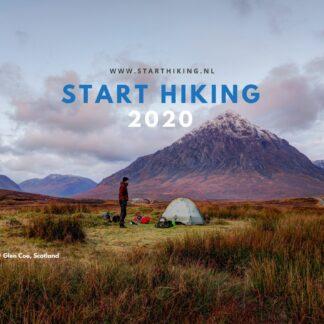 Start Hiking bureaukalender 2020 voorzijde